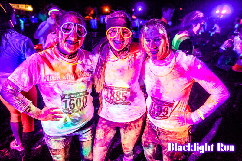 HEADROMANCE - PORTSMOUTH - HAVANT - CHARITY - Black Light Run